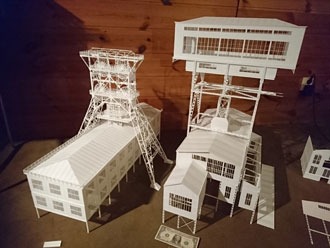 mining scale model headframe winding tower H0